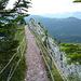 der gesicherte Bergweg