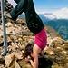 Warum nicht mal ein kopfüber Gipfelfoto