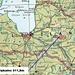 Karte von Lettland mit eingezeichneter Lage vom Landeshöhepunkt Gaiziņkalns (311,5m).<br /><br />Rot eingekreist sind die neben dem Gaiziņkalns die besuchten Orte Rīga und Madona.
