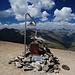 Gipfel Arrangement auf dem Monte Breva