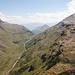 Im Abstieg, Blick auf La Stretta und die Passhöhe