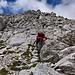 auch leichte Kletterstellen beim Anstieg
