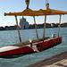 Beim Ruderclub Bucintoro an der Zattere. Rassiger Ausstieg aus dem Boot.