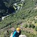 Dina in der Route Quarzader mit 6a 11SL