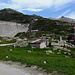 Die Staumauer des Lago di Lucenro.