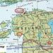 Karte von Estland mit eingezeichneter Lage vom Landeshöhepunkt Suur Munamägi (318,1m).  Rot eingekreist sind die neben dem Suur Munamägi besuchten Orte Pärnu, Võru und und Tallinn.