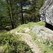 Abstiegsweg