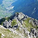 Rückblick zur Elferhütte und den Aufstiegsweg