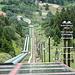 die steile Auffahrt der Ritom Bahn