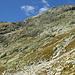 le roccette da salire per arrivare alla Fuorcla, prima verso sinistra e poi a destra salendo un costone-cresta