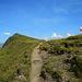 Am Weg hinauf zum letzten Gipfel des Tages