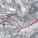 Routenverlauf ab Leutschachhütte<br /><br />Quelle: SchweizMobil