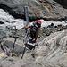 Abstieg auf den Monte Rosa Gletscher