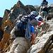 Abwechslungsreicher Weg zu den Mischabelhütten - er wird manchmal auch als Klettersteig bezeichnet