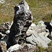 Interessanter Stein im Aufstieg zur Fuorcla Tschitta