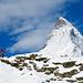 Das Matterhorn begleitet unseren gesamten Aufstieg