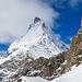 Unterhalb vom Durchschlupf zum P.2870 mit Blick zum Matterhorn