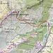Karte mit Routenverlauf © SwissTopo