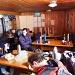 Im Winterraum der Carschinahütte