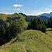 der weitere Wanderweg auf dem Spitzli, zuerst geht es zur Hoch Petersalp und weiter zum Nusshaldensattel.
