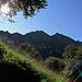 Die Aussicht auf den Monte Generoso ist beeindruckend.