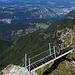 """Die Brücke, kurz vor dem Gipfelkreuz des """"Baraghetto""""."""