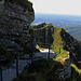 Der Felsenweg zur Bergstation.