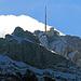 """Zoom auf die Bergstation, bereits im """"tiefen Winter"""""""