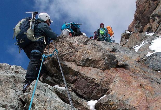 Klettersteig Rakousko : Klettersteig mitterkarjoch 3400m u2013 tourenberichte und fotos [hikr.org]