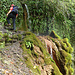 Da hatte er keinen Blick für; die warme Naturdusche kurz vorm Einstieg zum Klettersteig