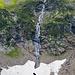 Einer der Wasserfälle auf dem Weg zur Hütte