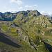 Überblick über das Gelände von der Capanna Campo Tencia bis zum Einstieg P.2561