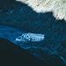 Rhonegletscher - das Weiße ist der Abgedeckte Teil der Gleschergrotte