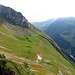 Rückblick vom Steckenbergsattel zur Altenalp ....