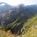 hier stehe ich auf dem Steckenbergsattel, mein weiterer Weg geht hinunter zum Berggasthaus Mesmer.