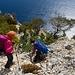Abstieg hoch über dem Meer zur Grotta dei Colombi, welche man jedoch nicht ganz erreicht!