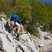 Der Weg wird immer wieder von kurzen Kletterpassagen unterbrochen