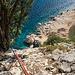 Kletterpassage um den Wald von Plummare zu erreichen