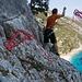 Die letzten Abseilmanöver zur nun schon sichtbaren Cala Sisine