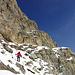 Abstieg durch die erste Steilstufe gegen den Vadret dal Murtel
