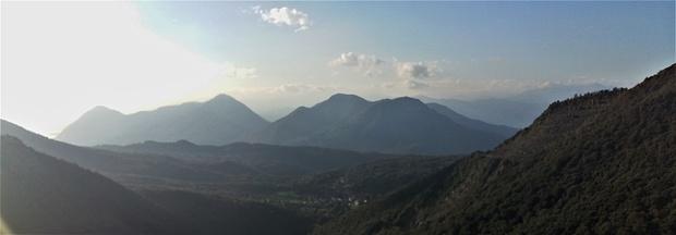 La vista verso Ovest.