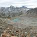 Ehemalige Gletscherfeld unterhalb Fuorcla Laviner. Später werden wir dieser Steinwüste durchqueren.