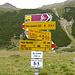 Nach eine unnötige Überschreitung von Muot da Crasta erreichen wir die Verzweigung nach Suvretta da Samedan.