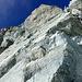 Blick von unten in die Kletter Stelle
