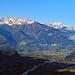 Fotografiert bei der Hinfahrt nach Malbun in Triesenberg, Piz Sardona und Pizol