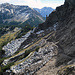 Rückblick über den Bergweg beim Stachlerkopf.
