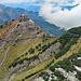 mein Weg hinauf zu den Drei Kapuziner, ist die rote Linie, die blaue Linie ist der Bergweg zum Schönberg.