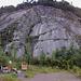 Am Klettergarten Risleten (Im Vordergrund sieht man die Grillstelle).