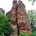 Braut und Bräutigam, zwei der bekanntesten Felsgestalten der Gegend.