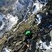 The grade II climb onto the Punta Venezia: quite exposed as well...
